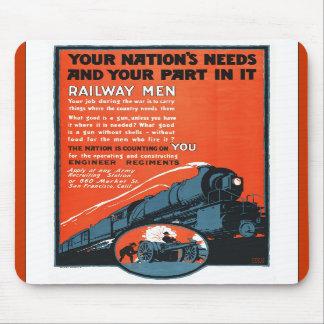 Railroad men mouse pads