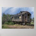 Railroad Passenger Coach - Nevada City Montana Poster