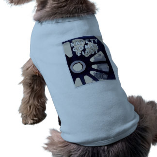 Railroad Safety Comes First Vintage Sleeveless Dog Shirt