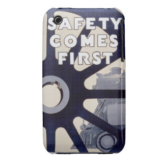 Railroad Safety Comes First Vintage iPhone 3G/3GS Case-Mate iPhone 3 Case
