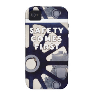 Railroad Safety Comes First Vintage iPhone 4 iPhone 4/4S Case