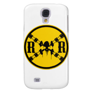 Railroad Sign Crossing Galaxy S4 Cases