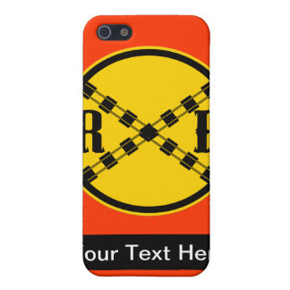Railroad Sign Crossing iPhone 5 Cases