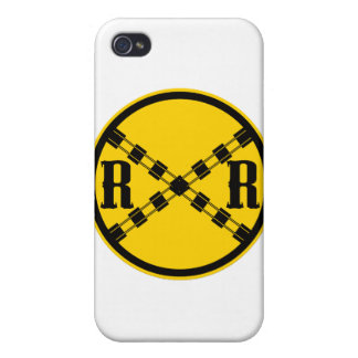 Railroad Sign Crossing Cover For iPhone 4