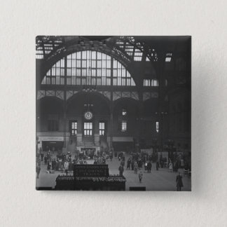 Railroad Station 15 Cm Square Badge
