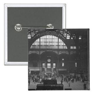Railroad Station 15 Cm Square Badge