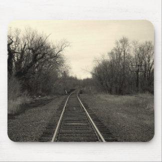 RailRoad Tracks B&W Mousepad