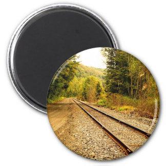 railroad tracks magnet