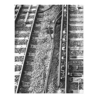 Railroad Tracks Picture. Custom Flyer