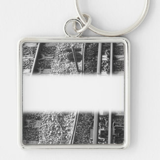 Railroad Tracks Picture. Key Ring
