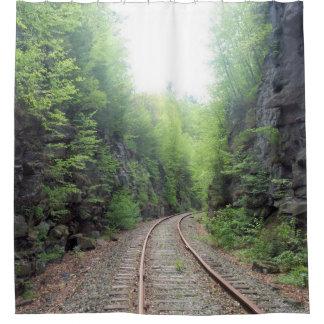 Railroad Tracks Shower Curtain