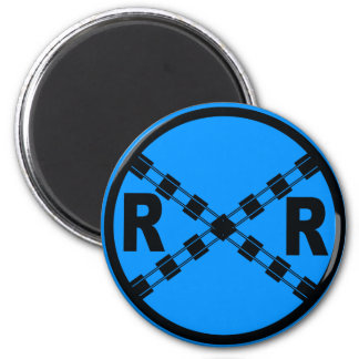 Railroad Traffic Street Sign Magnet