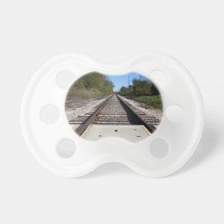 Railroad Train Tracks Photo Baby Pacifier