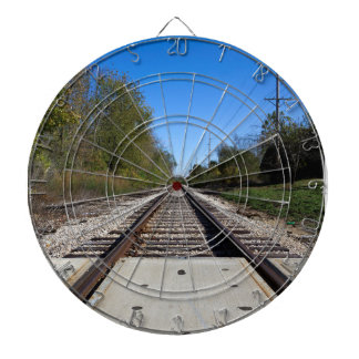 Railroad Train Tracks Photo Dartboard