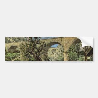 Railroad viaduct ravine Saint Devote Monte Carl Bumper Sticker