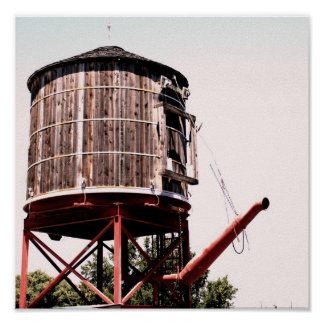 Railroad Water Tower at the Stockyards Print
