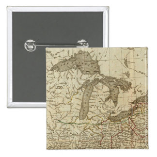 Railroads and Canals in the United States 15 Cm Square Badge