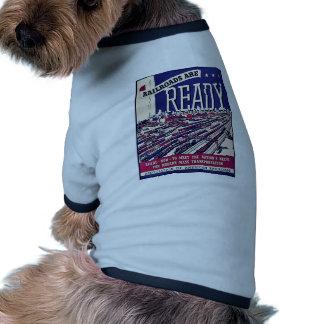 Railroads Are Ready Ringer Dog Shirt