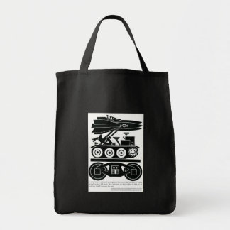 Railroads Moved 90% of all Freight in World War 2 Grocery Tote Bag