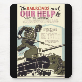 Railroads Need Our Help Mouse Mat