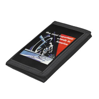 Railroads; The Most Important Wheels in America Trifold Wallet