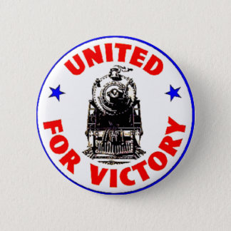Railroads United For War Effort 1940 6 Cm Round Badge