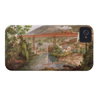 Railway Bridge at Atoyac, from 'Album of the Mexic iPhone 4 Cases