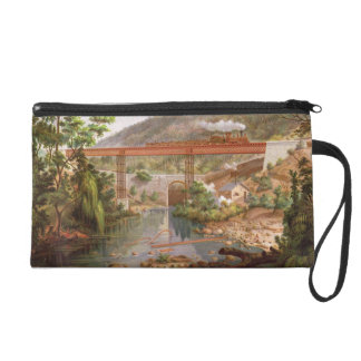Railway Bridge at Atoyac, from 'Album of the Mexic Wristlet Clutch