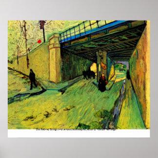 Railway Bridge over Avenue Montmajour by van Gogh Poster