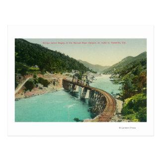 Railway Bridge over Merced River Post Cards