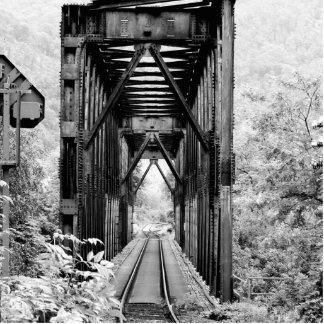 railway bridge photo sculpture magnet