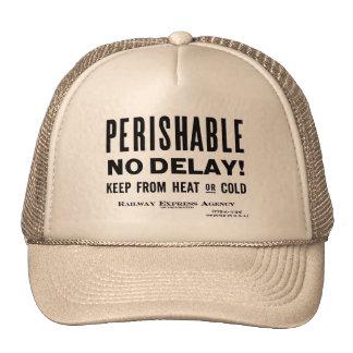 Railway Express Agency   Perishable - Cap