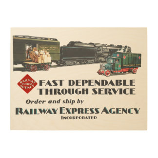 Railway Express Fast Dependable Service Wood Wall Art