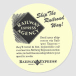 Railway Express - Ship The Railroad Way Round Sticker