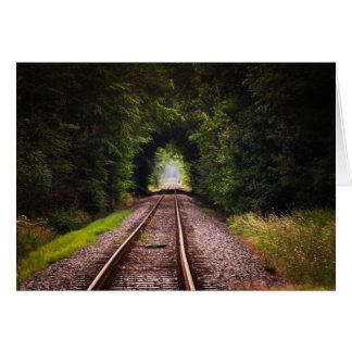 Railway green beautiful scenery card
