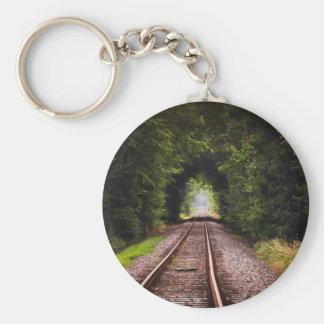 Railway green beautiful scenery key chains
