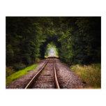 Railway green beautiful scenery post card