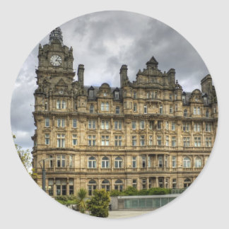Railway Hotel Classic Round Sticker