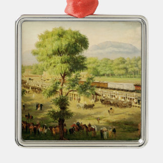 Railway in the Valley of Mexico, 1869 Christmas Ornament