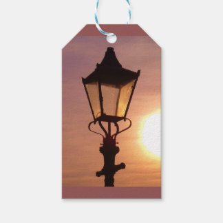 RAILWAY LANTERN SUNSET Gift Tag