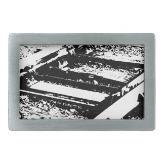 Railway Lines Rectangular Belt Buckle