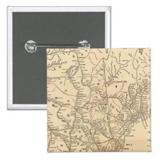 Railway map New England States 15 Cm Square Badge