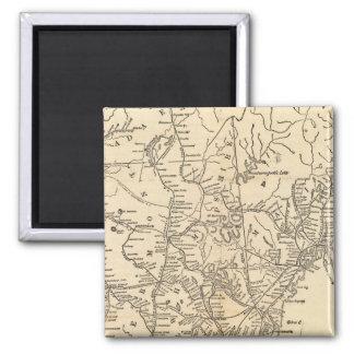 Railway map New England States Fridge Magnets