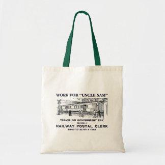 Railway Postal Clerk 1926 Budget Tote Bag