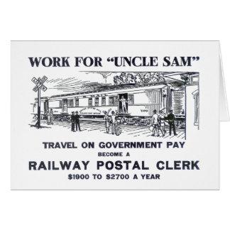 Railway Postal Clerk 1926 Note Card