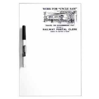 Railway Postal Clerk 1926 Dry Erase Whiteboards