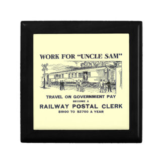 Railway Postal Clerk 1926 Giftbox Trinket Box