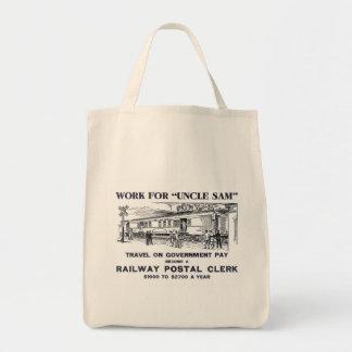 Railway Postal Clerk 1926 Grocery Tote Bag
