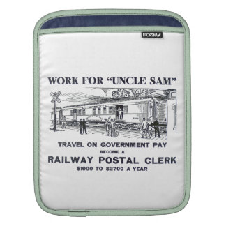 Railway Postal Clerk 1926 iPad Sleeve