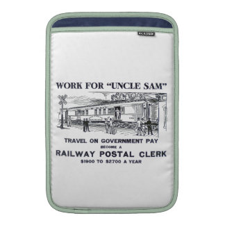 Railway Postal Clerk 1926 MacBook Sleeves